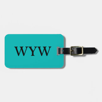 CHIC LUGGAGE/BAG/GIFT/TAG 143 TURQUOISE, SOLID LUGGAGE TAG