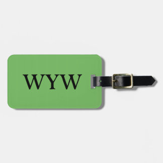 CHIC LUGGAGE/BAG/GIFT/TAG 148 GREEN SOLID LUGGAGE TAG