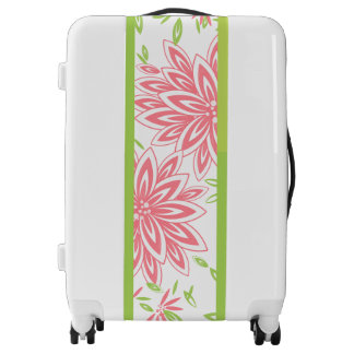 CHIC LUGGAGE BAG_PRETTY SOFT CORAL FLORAL