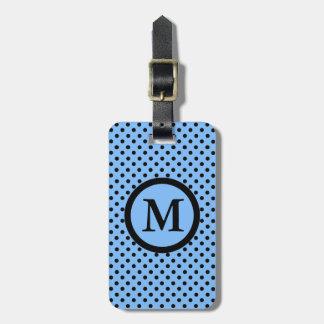 CHIC LUGGAGE/BAG TAG_07 DOTS /151 BLUE/MONOGRAM BAG TAG