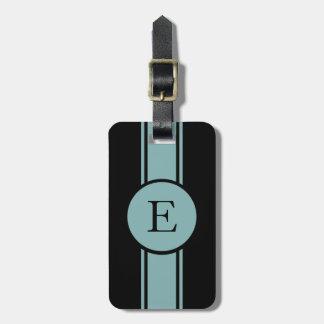 CHIC LUGGAGE/BAG TAG_132 SEAFOAM/BLACK/MONOGRAM TRAVEL BAG TAGS