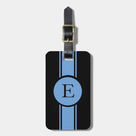 CHIC LUGGAGE/BAG TAG_153 BLUE/BLACK/MONOGRAM BAG TAG