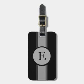 CHIC LUGGAGE/BAG TAG_252 GRAY/BLACK/MONOGRAM BAG TAG