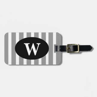 CHIC LUGGAGE/BAG TAG_252 GRAY/ WHITE STRIPES TAGS FOR BAGS