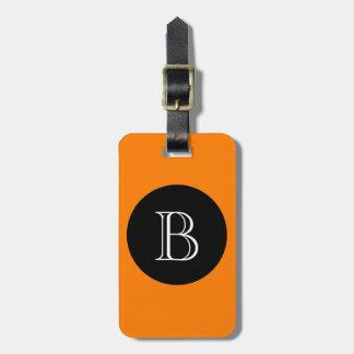 CHIC LUGGAGE/BAG TAG_32 ORNGE/BLACK/MONOGRAM LUGGAGE TAG