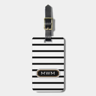 CHIC LUGGAGE/BAG TAG_39 BROWN/BLACK/WHITE BAG TAG