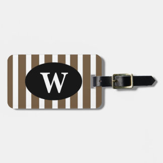 CHIC LUGGAGE/BAG TAG_39 BROWN/WHITE STRIPES TAGS FOR LUGGAGE