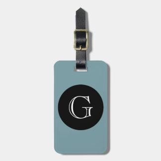 CHIC LUGGAGE/BAG TAG_429 BLUE/BLACK/MONOGRAM BAG TAG