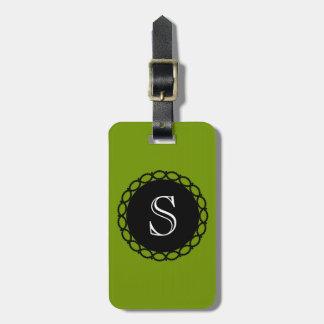 CHIC LUGGAGE/BAG TAG_66 GREEN/BLACK/MONOGRAM LUGGAGE TAG
