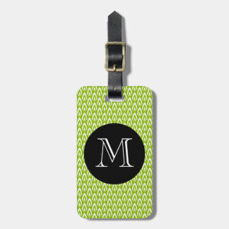 CHIC LUGGAGE/BAG TAG_MODERN 64 GREEN/WHITE/BLACK LUGGAGE TAG