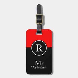 "CHIC LUGGAGE/BAG TAG_MODERN ""Mr"" 01 RED/BLACK Tag For Luggage"