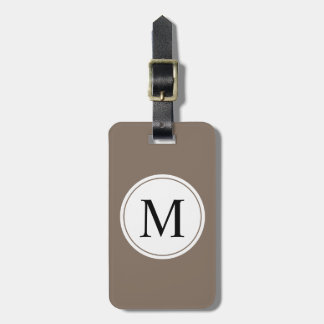 CHIC LUGGAGE/BAG TAG_MODERN SOFT BROWN/WHITE/BLACK LUGGAGE TAG