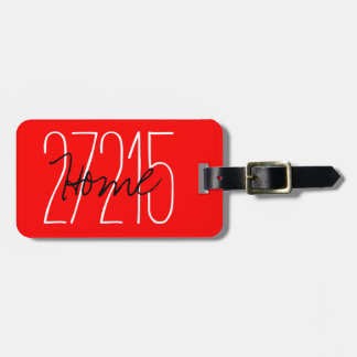 CHIC LUGGAGE/BAG TAG_ZIPCODE_RED LUGGAGE TAG