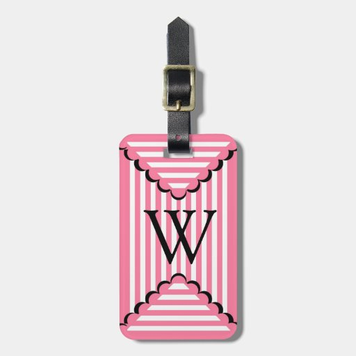 CHIC LUGGAGE/GIFT TAG_241 PINK STRIPES TAG FOR BAGS