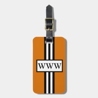 CHIC LUGGAGE GIFT TAG_32 ORANG WHITE BLACK TAG FOR LUGGAGE