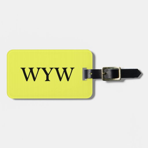 CHIC LUGGAGE/GIFT TAG_590 YELLOW SOLID LUGGAGE TAG