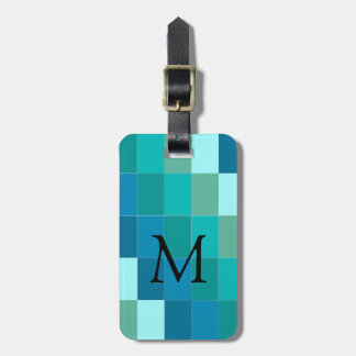 CHIC LUGGAGE/GIFT TAG_COLOR BLOCK BLUE/AQUA TAGS FOR LUGGAGE
