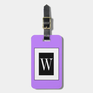 CHIC LUGGAGE TAG_191 PURPLE/BLACK/WHITE BAG TAG