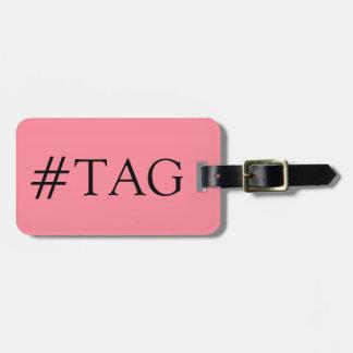 CHIC LUGGAGE TAG_29 PINK/BLACK HASH TAG