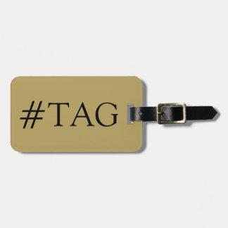 CHIC LUGGAGE TAG_45KAKKI/BLACK HASH TAG