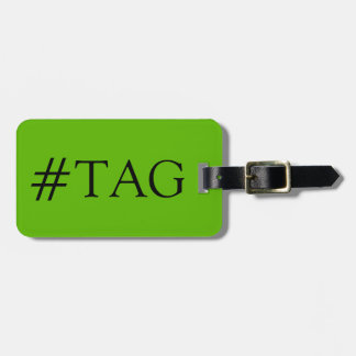 CHIC LUGGAGE TAG_74 GREEN/BLACK HASH TAG