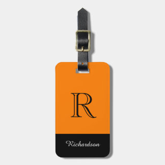 CHIC LUGGAGE TAG_BLACK/ORANGE/WHITE LUGGAGE TAG