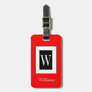 CHIC LUGGAGE TAG_BLACK/WHITE/01 RED TAG FOR LUGGAGE