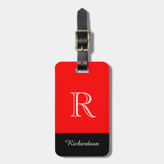 CHIC LUGGAGE TAG_BLACK/WHITE /RED BAG TAG