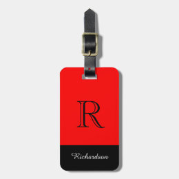 CHIC LUGGAGE TAG_BLACK/WHITE /RED LUGGAGE TAG