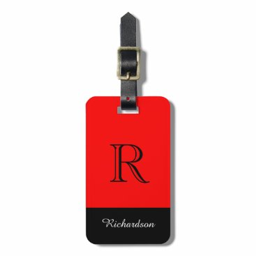 GiftMePlease CHIC LUGGAGE TAG_BLACK/WHITE /RED LUGGAGE TAG