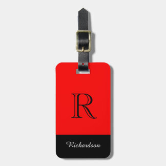 CHIC LUGGAGE TAG_BLACK/WHITE /RED TAG FOR LUGGAGE