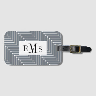 CHIC LUGGAGE TAG/BUSINESS CARD_GREY/BLACK/WHTIE LUGGAGE TAG