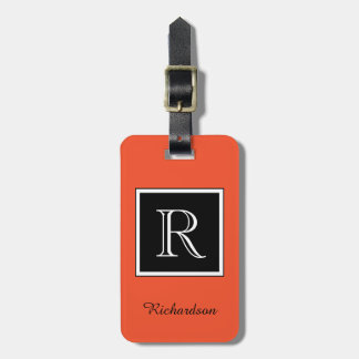 CHIC LUGGAGE TAG_MODERN FLAME/BLACK/WITE LUGGAGE TAG