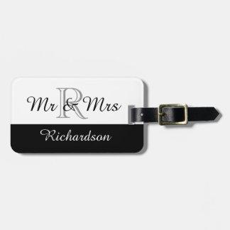 CHIC LUGGAGE TAG_MR & MRS_BLACK/WHITE BAG TAGS
