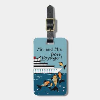CHIC LUGGAGE TAG_Mr & Mrs Bon Voyage Cruise Luggage Tag