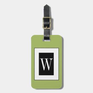CHIC LUGGAGE TAG_SAGE/BLACK/WHITE BAG TAG