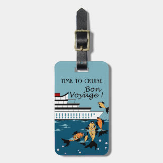CHIC LUGGAGE TAG_TIME TO CRUISE_BON VOYAGE! TAG FOR LUGGAGE
