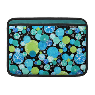 Chic MacBook Air Sleeve Blue Moons Quirky Pattern