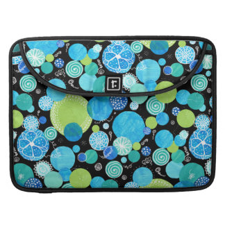 Chic MacBook Pro Sleeve, Blue Moons Quirky Pattern Sleeve For MacBooks