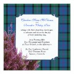 Chic MacThomas Tartan Plaid Heather Wedding Invitation