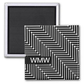 CHIC MAGNET_MODERN BLACK/WHITE ZIGZAG DESIGN MAGNET