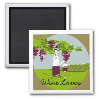 "CHIC MAGNET_""Wine Lover""_VINEYARD THEME Magnet"