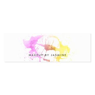 chic makeup artist watercolor budget cheap ombre mini business card