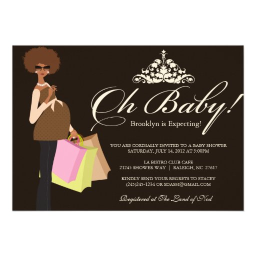 Chic Mama Baby Shower Invite | African American