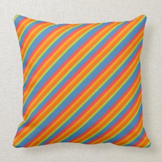 Blue Green Orange Throw Pillows : Orange And Blue Striped Pillows - Decorative & Throw Pillows Zazzle