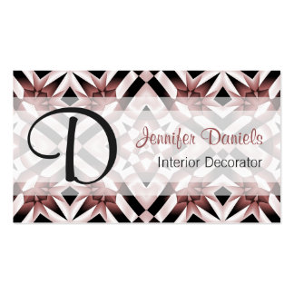 Chic Marsala Wine Red Retro Modern Mosaic Pattern Double-Sided Standard Business Cards (Pack Of 100)