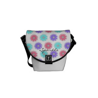 CHIC MESSANGER BAG_ Sparkle FLOWERS DIAMONDS Courier Bag