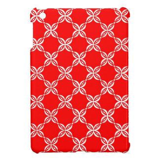 CHIC MINI IPAD CASE_01 RED/WHITE FLOWER PODS iPad MINI CASE