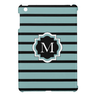 CHIC MINI-IPAD CASE_132 SEAFOAM/BLACK STRIPES iPad MINI COVER