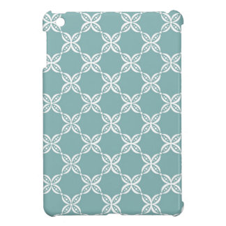 CHIC MINI IPAD CASE_132 SEAFOAM/WHITE FLOWER PODS CASE FOR THE iPad MINI